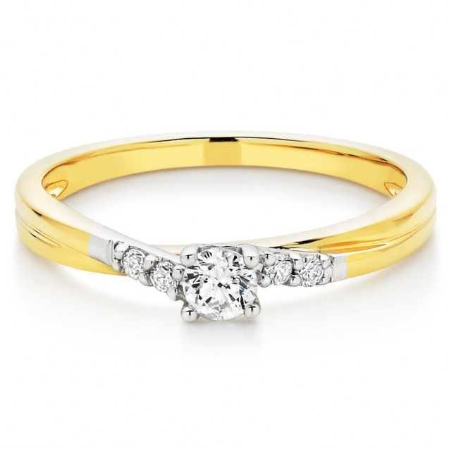 Solitaire yellow gold 18 k
