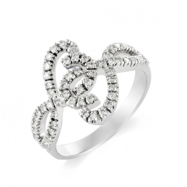 Diamond Ring Made in 14k White Gold