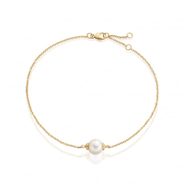 Freshwater Pearl Bracelet Made In 14K Yellow Gold