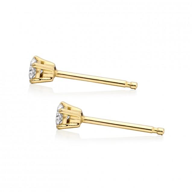 Tehitian Pearl Earring Made In 14K Yellow Gold