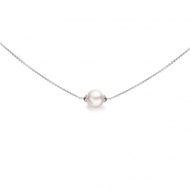 Freshwater Pearl Necklace Made In 14K White Gold