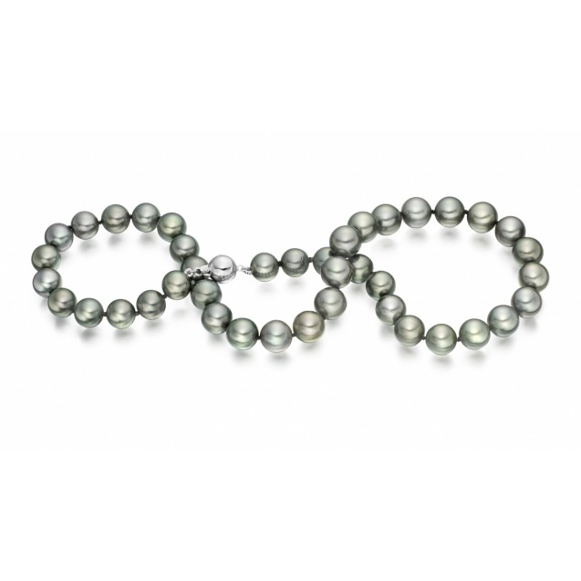 Tehitian Pearl Necklace Made In 14K White Gold