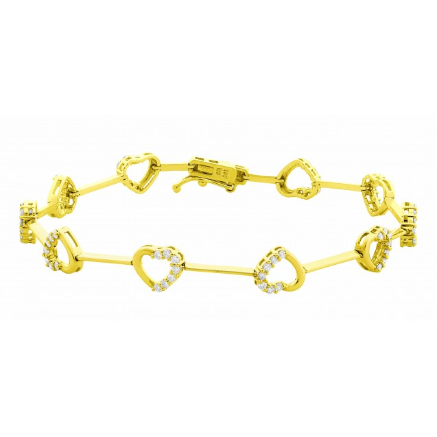 Diamond Bracelet made in 18k Yellow Gold ( 0.23cts)