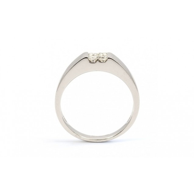 Mens Wedding Rings  made in 14K White Gold with Diamond Ring  (0.3ct)