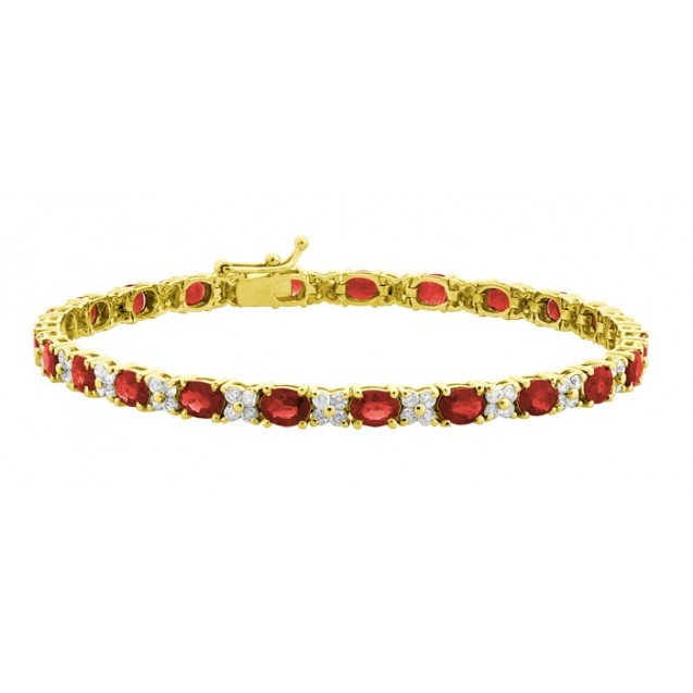 Burmese Ruby Bracelet made in 18k Yellow Gold ( 6.25cts Ruby )