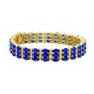 Blue Sapphire Bracelet made in 18k Yellow Gold ( 21.67cts Bs)