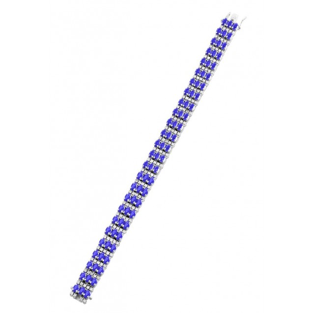 Tanzanite Bracelet made in 18k White Gold ( 21.67cts TZ)