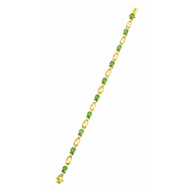 Emerald Bracelet made in 18k Yellow Gold ( 6.59cts Em)
