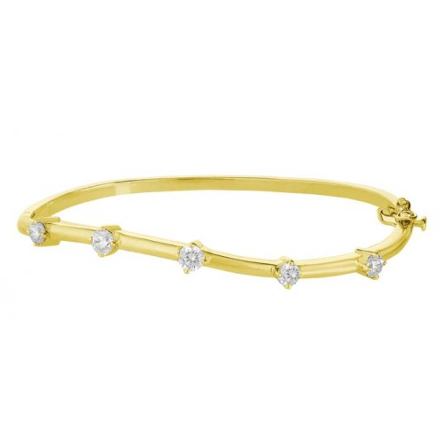 Diamond Bangles made in 18k Yellow Gold ( 1.02cts )