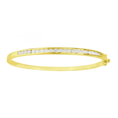 Diamond Bangles made in 14k Yellow Gold(1.46ct)