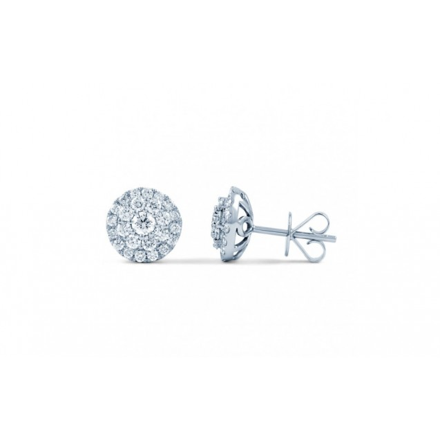 White Gold Diamond Earring in 14K  (1.17ct)