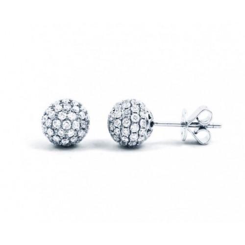 Diamond Disco Ball Stud Earrings (1.50 ct)