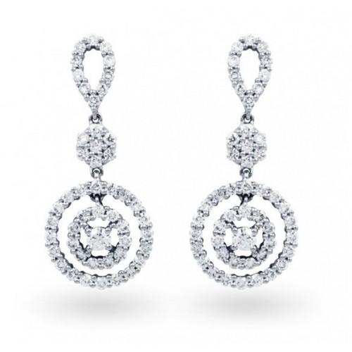 Diamond Earring Set in 14k White Gold ( 1.12ct )