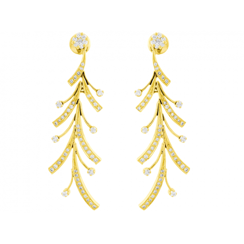Diamond Earring Set in 14k Yellow Gold ( 2.2ct)