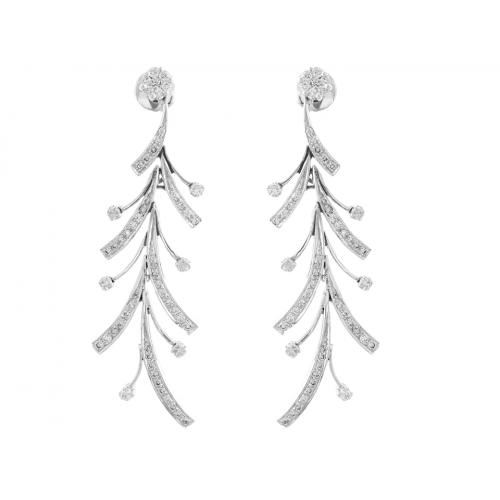 Diamond Earring Set in 14k White Gold ( 2.2ct)