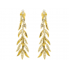 Diamond Christmas Tree Earring Set in 14k Yellow Gold ( 0.8ct)