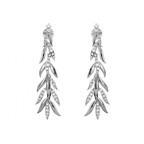 Diamond Earring Set in 14k White Gold ( 0.8ct)