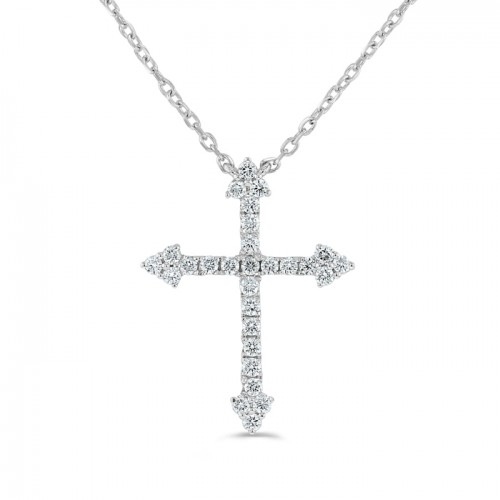 Diamond Pendant made in 14k White Gold (0.48ct)