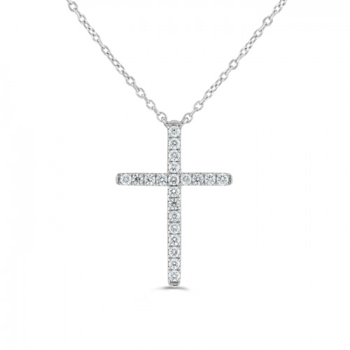 Diamond Pendant made in 14k White Gold (0.45ct)