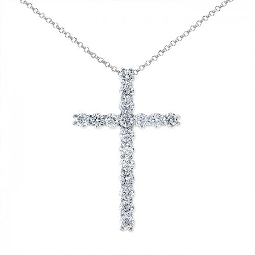 Diamond Pendant made in 14k White Gold (0.75ct)