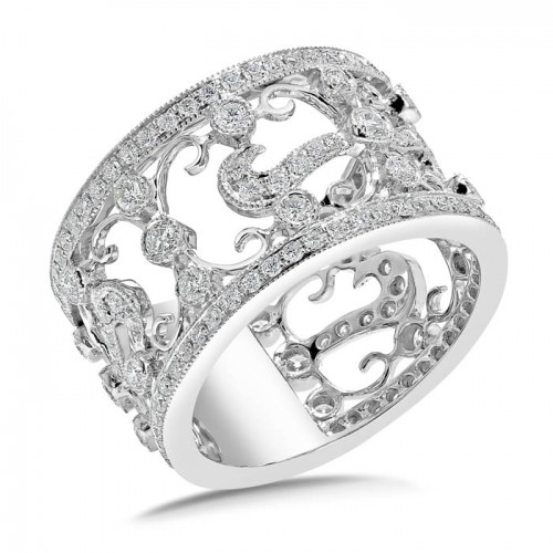 Diamond Band Ring Set in 14k White Gold (1.12cts)