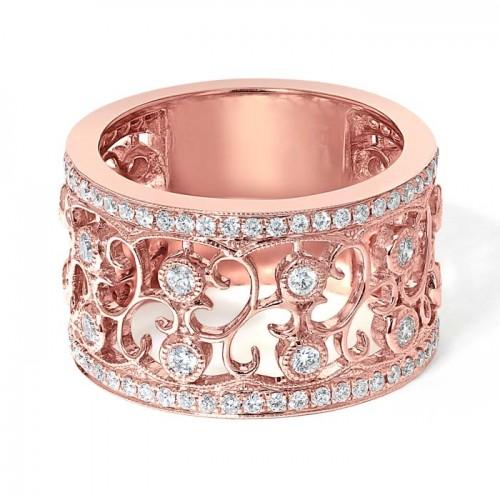 Diamond Band Ring Set in 14k Rose Gold (0.80 ct)