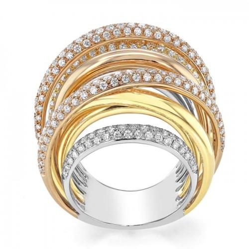 Diamond Multi Band Ring Set in 14k Rose Gold (2.42 cts)