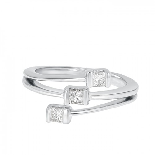 Diamond  Ring Set in 14k White Gold (0.23 cts)