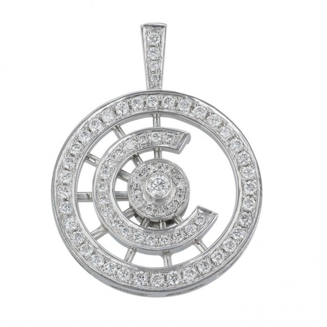Diamond Pendant made in 14k White Gold (0.78ct)
