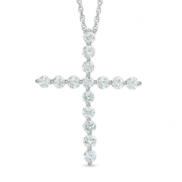 Diamond Pendant Set in 14k White Gold (0.4ct )