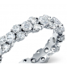 The Garland Ring in 14K white gold with Vs Quality diamonds( 2.5ct)