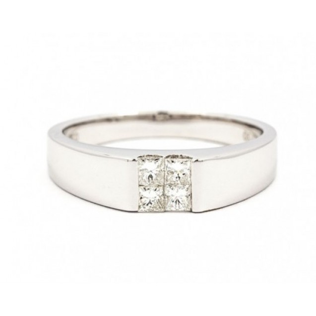Mens Wedding Rings Made In 14k White Gold With Diamond Ring 0 3ct
